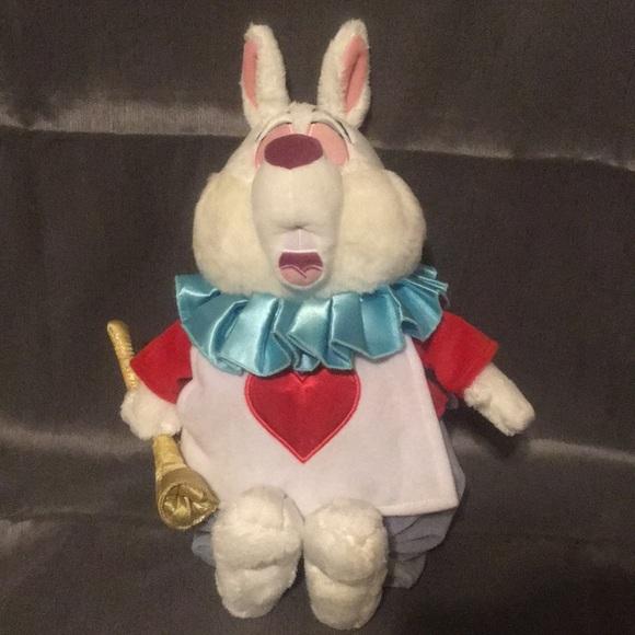 Disney Other Alice In Wonderland White Rabbit Plush Poshmark